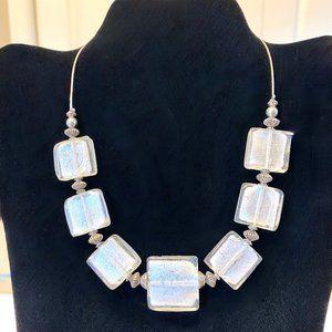 Italian-Made Dichroic Glass Bead Necklace